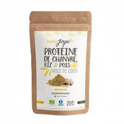 Protéine Chanvre Riz Pois Coco - 400g - Hello Joya