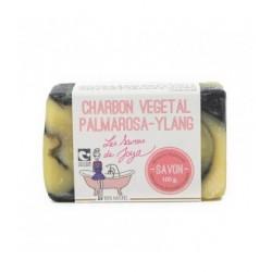 Savon Charbon Palmarosa Ylang - 100g - Les Savons de Joya