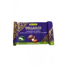 Chocolat au Lait et Amandes Bio - 100g - Rapunzel