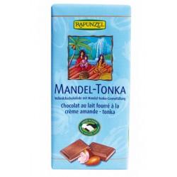 Chocolat au Lait Amande et Tonka - 100g - Rapunzel