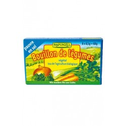 Bouillon Cube Légumes Pauvre en Sel - 68g - Rapunzel