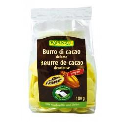 Beurre de Cacao Désodorisé Pastilles - 100g - Rapunzel