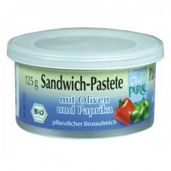 """Pâté végétal """"Poivron et Olives"""" 125g-Pural"""
