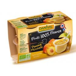 Purée 100% France Pomme et Mirabelle (4x100g)-Danival