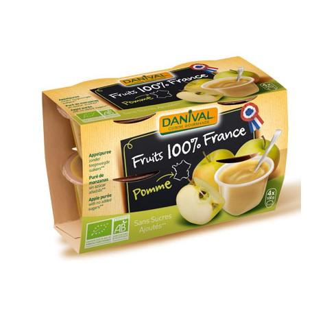 Purée 100% France Pomme (4x100g)-Danival