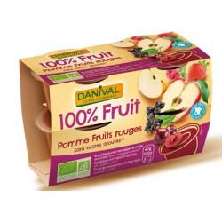 POKIBio Pomme et Fruits Rouges (4x90g)-Danival
