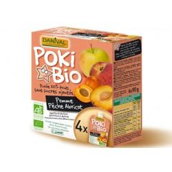 POKIBio Pomme Pêche Abricot (4x90g)-Danival