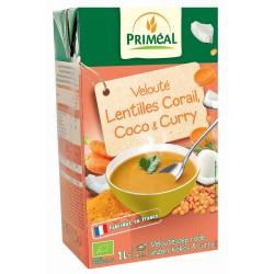 Velouté Lentilles Corail Coco Curry - 1L - Priméal