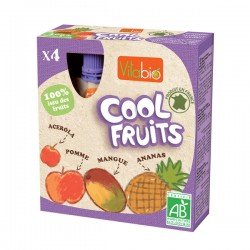 Cool Fruits Pomme Mangue Ananas 4x90g-Vitabio