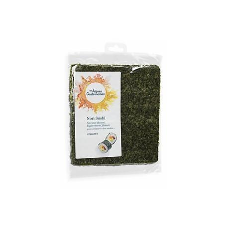 Nori Sushi 10 Feuilles 30g-Les Algues Gastronomes