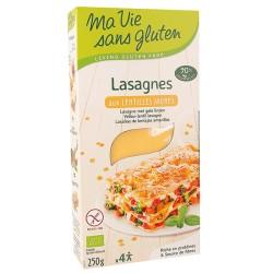 Lasagnes Lentilles Jaunes - 250g - Ma Vie Sans Gluten