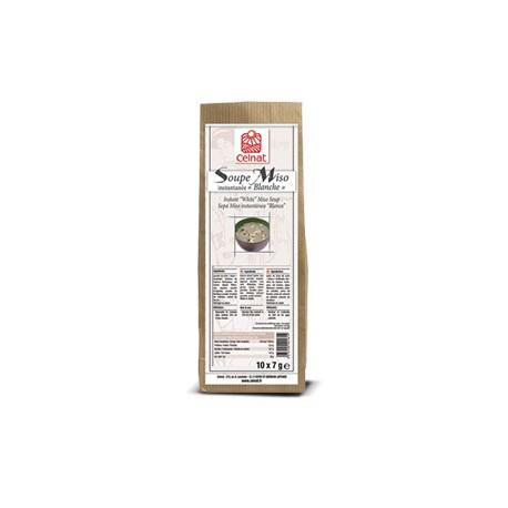 """Soupe Miso instantanée """"Blanche"""" (10 sachets de 7g) 70g-Celnat"""
