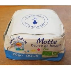 Motte Beurre de Baratte Doux - 250 g - Grandeur Nature