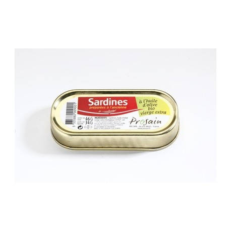 Sardines à l'huile d'olive vierge extra 46g -Maison ProSain
