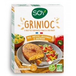 Grinioc Riz, Petits Légumes & Safran - 2x100g - SOY