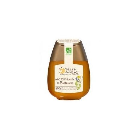 Miel Bio Liquide de France 250g (flacon pressoir)-Terre de Miel