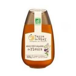 Miel Bio Liquide de Fleurs 500g (flacon pressoir)-Terre de Miel
