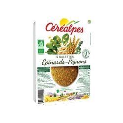 Galettes Epinards Pignons Vegan - 2 x 90 g - Céréalpes