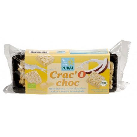Crac'O choc Noix de Coco Chocolat Blanc 80g-Pural