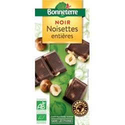 Chocolat Noir Noisettes Entières 100g -Bonneterre