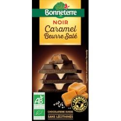 Chocolat Noir Caramel Beurre Salé 100g -Bonneterre