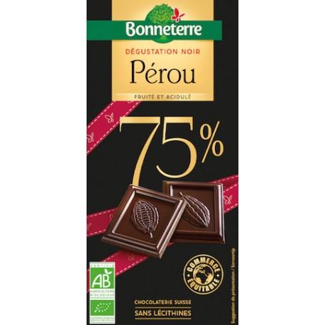 Chocolat Noir Sélection Pérou 100g -Bonneterre