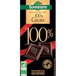 Chocolat Noir 100% Cacao 70g -Bonneterre