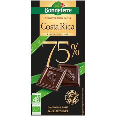 Chocolat Noir Origines Intenses Costa Rica 70g -Bonneterre