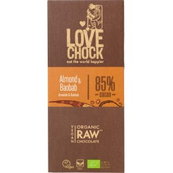 Chocolat Cru 85% Amande & Baobab - 70g - Lovechock