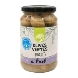 Olives Vertes Farcie à l'Ail - 350g - Philia