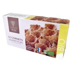 Cornets Glace Gaufrette - x12 - Biscuiterie Tourniayre