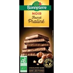 Chocolat Noir Fourré Praliné - 100g - Bonneterre