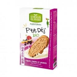 Biscuits P'tit Dej' Figues Raisins & Graines - 190g - Moulin du Pivert