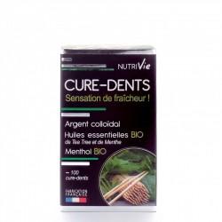 Cure-Dents Argent Colloidal & Huiles Essentielles - x100 - Nutrivie