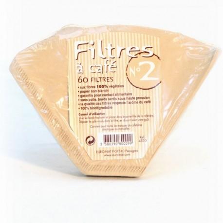 Filtres à Café n°2 (60 filtres)-Euronat