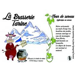 Bière La Tarine Blanche Sureau - 75cl - La Brasserie Tarine