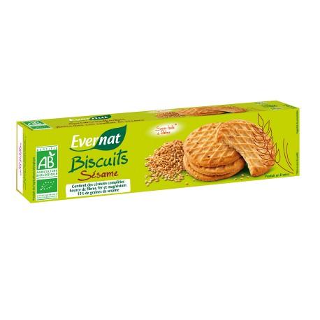 Biscuits Sésame Bio 150g-Evernat