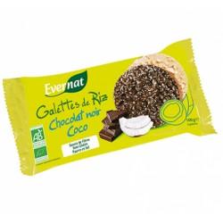 Galettes de Riz Bio Chocolat Noir Coco 100g-Evernat