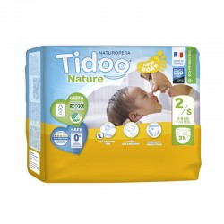 Couches Écologiques T2/S 3-6kg - 31 couches - Tidoo