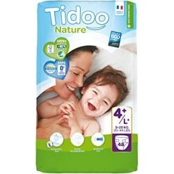 Couches Écologiques T4+/L+ 9-20kg - 48 couches - Tidoo