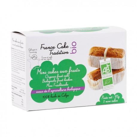Mini Cakes aux Fruits Bio 175g-France Cake Tradition Bio