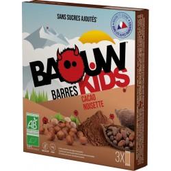 Barres Kids Bio Cacao Noisette - x3 - Baouw Organic Nutrition