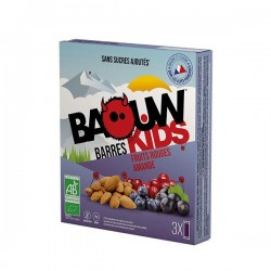 Barres Kids Bio Fruits Rouges Amande - x3 - Baouw Organic Nutrition