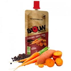 Purée Énergétique Patate Douce Carotte Poivre - 63g - Baouw Organic Nutrition