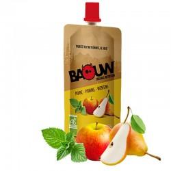 Purée Énergétique Poire Pomme Menthe - 63g - Baouw Organic Nutrition