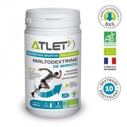 Maltodextrine de Manioc Biologique D.E. de 10 – 450g – Atlet