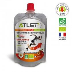 Compote Énergétique Bio Pomme & Abricot Malto – 100g – Atlet