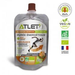 Purée Énergétique Bio Butternut & Patate Douce Amande – 100g – Atlet
