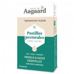 Pastilles Pectorales Sans Sucre - 30 Pastilles - Aagaard Propolis