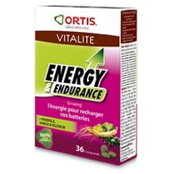 Energy et Endurance - 36 Comprimés - Ortis